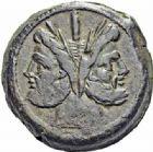 Photo numismatique  ARCHIVES VENTE 2016-19 oct RÉPUBLIQUE ROMAINE Anonyme (211-206)  157- As, Rome. 157- As anonyme, Rome.