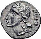 Photo numismatique  ARCHIVES VENTE 2016-19 oct RÉPUBLIQUE ROMAINE GUERRE SOCIALE (90-88).  159- Samnium, Bavianum ( ?). Denier.