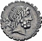 Photo numismatique  ARCHIVES VENTE 2016-19 oct REPUBLIQUE ROMAINE Q. Antonius Balbus (vers 83-82)  161- Denier serratus.