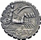 Photo numismatique  ARCHIVES VENTE 2016-19 oct RÉPUBLIQUE ROMAINE Q. Antonius Balbus (vers 83-82)  161- Denier serratus.