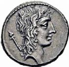 Photo numismatique  ARCHIVES VENTE 2016-19 oct REPUBLIQUE ROMAINE Q. Cassius Longinus (vers 55)  166- Denier.