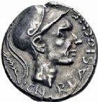 Photo numismatique  ARCHIVES VENTE 2016-19 oct RÉPUBLIQUE ROMAINE Cn. Cornelius Blasio Cn. F. (vers 112-111)  168- Denier.