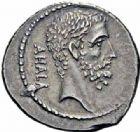 Photo numismatique  ARCHIVES VENTE 2016-19 oct RÉPUBLIQUE ROMAINE M. Junius Brutus (vers 54)  172- Denier.