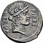 Photo numismatique  ARCHIVES VENTE 2016-19 oct RÉPUBLIQUE ROMAINE A. Licinius Nerva (vers 47)  174- Denier.