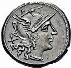 Photo numismatique  ARCHIVES VENTE 2016-19 oct RÉPUBLIQUE ROMAINE C. Maianius (vers 153)  175- Denier.