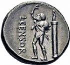 Photo numismatique  ARCHIVES VENTE 2016-19 oct RÉPUBLIQUE ROMAINE L. Censorinus (vers 82)  176- Denier.