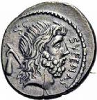 Photo numismatique  ARCHIVES VENTE 2016-19 oct RÉPUBLIQUE ROMAINE M. Nonius Sufenas (vers 59)  178- Denier.