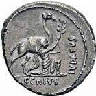 Photo numismatique  ARCHIVES VENTE 2016-19 oct RÉPUBLIQUE ROMAINE A. Plautius (vers 55)  180- Denier.
