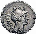 Photo numismatique  ARCHIVES VENTE 2016-19 oct RÉPUBLIQUE ROMAINE C. Piso L. f. Frugi (vers 67)  181- Denier serratus.