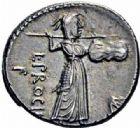 Photo numismatique  ARCHIVES VENTE 2016-19 oct RÉPUBLIQUE ROMAINE L. Procilius (vers 80)  184- Denier.