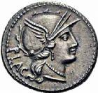 Photo numismatique  ARCHIVES VENTE 2016-19 oct RÉPUBLIQUE ROMAINE L. Rutilius Flaccus (vers 77)  186- Denier.