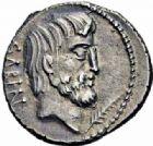 Photo numismatique  ARCHIVES VENTE 2016-19 oct RÉPUBLIQUE ROMAINE L. Titurius L. f. Sabinus (vers 89)  190- Denier.