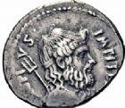 Photo numismatique  ARCHIVES VENTE 2016-19 oct RÉPUBLIQUE ROMAINE POMPÉE LE JEUNE (97-35)  203- Denier, Sicile, (42-40).