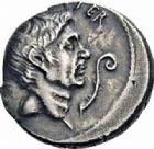 Photo numismatique  ARCHIVES VENTE 2016-19 oct RÉPUBLIQUE ROMAINE POMPÉE LE JEUNE (97-35)  205- Denier, Sicile, (42-40).