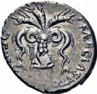Photo numismatique  ARCHIVES VENTE 2016-19 oct RÉPUBLIQUE ROMAINE POMPÉE LE JEUNE (97-35)  206- Denier, Sicile, (42-40).