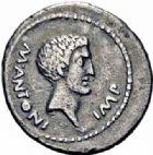 Photo numismatique  ARCHIVES VENTE 2016-19 oct REPUBLIQUE ROMAINE MARC ANTOINE (83/82-30)  208- Denier, Gaule, (42).