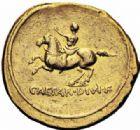 Photo numismatique  ARCHIVES VENTE 2016-19 oct EMPIRE ROMAIN OCTAVE-AUGUSTE. (Empereur en 29 - Auguste 27 av.-14 ap. JC)  214- Aureus, Rome, (32-29 avant J.C.).