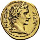 Photo numismatique  ARCHIVES VENTE 2016-19 oct EMPIRE ROMAIN OCTAVE-AUGUSTE. (Empereur en 29 - Auguste 27 av.-14 ap. JC)  215- Aureus, Lyon, (8 avant J.C.).