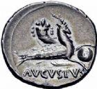 Photo numismatique  ARCHIVES VENTE 2016-19 oct EMPIRE ROMAIN OCTAVE-AUGUSTE. (Empereur en 29 - Auguste 27 av.-14 ap. JC)  217- Denier, Colonia-Patricia, (17-16).