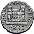 Photo numismatique  ARCHIVES VENTE 2016-19 oct EMPIRE ROMAIN OCTAVE-AUGUSTE. (Empereur en 29 - Auguste 27 av.-14 ap. JC) Q. Rustius (19 avant J.C.) 221- Denier, Rome.