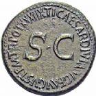 Photo numismatique  ARCHIVES VENTE 2016-19 oct EMPIRE ROMAIN TIBÈRE. (14-37)  226- Sesterce, Rome, (36-37).