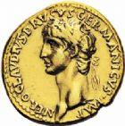Photo numismatique  ARCHIVES VENTE 2016-19 oct EMPIRE ROMAIN CLAUDE (41-54)  229- Aureus au nom de Néron Drusus, Lyon, (41-42).