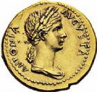Photo numismatique  ARCHIVES VENTE 2016-19 oct EMPIRE ROMAIN CLAUDE (41-54)  230- Aureus au nom d'Antonia, Lyon, (41-42).