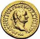 Photo numismatique  ARCHIVES VENTE 2016-19 oct EMPIRE ROMAIN TITUS  César (69-79 Auguste (79-81)  241- Aureus, Rome, (77-78).