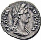 Photo numismatique  ARCHIVES VENTE 2016-19 oct EMPIRE ROMAIN SABINE (épouse de Hadrien +137)  249- Denier, Rome.