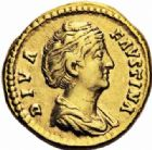 Photo numismatique  ARCHIVES VENTE 2016-19 oct EMPIRE ROMAIN FAUSTINE mère (épouse d'Antonin +141)  252- Aureus, Rome, (après 141).