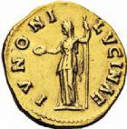 Photo numismatique  ARCHIVES VENTE 2016-19 oct EMPIRE ROMAIN FAUSTINE jeune (épouse de Marc Aurèle)  253- Aureus, Rome, (138-161).