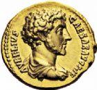 Photo numismatique  ARCHIVES VENTE 2016-19 oct EMPIRE ROMAIN MARC AURELE  (César 139-161 - Auguste 161-180)  255- Aureus, Rome, (147-148).
