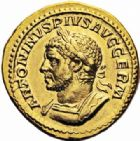Photo numismatique  ARCHIVES VENTE 2016-19 oct EMPIRE ROMAIN CARACALLA (César 196-198 - Auguste 198-217)  263- Aureus, Rome, (215).