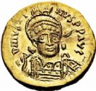 Photo numismatique  ARCHIVES VENTE 2016-19 oct EMPIRE BYZANTIN JUSTIN Ier (518-527)  302- Solidus, Constantinople.