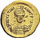 Photo numismatique  ARCHIVES VENTE 2016-19 oct EMPIRE BYZANTIN JUSTINIEN Ier (527-565)  303- Solidus, Constantinople.