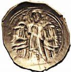 Photo numismatique  ARCHIVES VENTE 2016-19 oct EMPIRE BYZANTIN ANDRONIC II PALÉOLOGUE et son fils MICHEL IX (1295-1320)  307- Hyperpère, Constantinople.