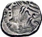 Photo numismatique  ARCHIVES VENTE 2016-19 oct IBERIE- GAULE - CELTES VOCONCES (Sud des Alpes françaises)  317- Denier incus au nom de Durnacos, (Ier siècle avant J.C.).