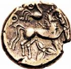 Photo numismatique  ARCHIVES VENTE 2016-19 oct IBERIE- GAULE - CELTES LEMOVICES (région de Limoges)  318- Statère d'électrum, (Ier siècle avant J.C.).