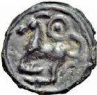 Photo numismatique  ARCHIVES VENTE 2016-19 oct IBERIE- GAULE - CELTES SEQUANES (région de Besançon)  319- Potin à la grosse tête, (Ier siècle avant J.C.).