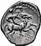 Photo numismatique  ARCHIVES VENTE 2016-19 oct GAULE - CELTES EDUENS (région de la Bourgogne et du Nivernais)  320- Quinaire au nom de Litavicos, (70-50).