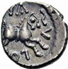 Photo numismatique  ARCHIVES VENTE 2016-19 oct IBERIE- GAULE - CELTES EDUENS (région de la Bourgogne et du Nivernais)  321- Quinaire au nom de Diasulos, (60-50).