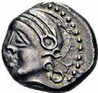 Photo numismatique  ARCHIVES VENTE 2016-19 oct IBERIE- GAULE - CELTES EDUENS (région de la Bourgogne et du Nivernais)  322- Quinaires aux noms de Arivos/Santonos, (60-50).
