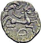 Photo numismatique  ARCHIVES VENTE 2016-19 oct GAULE - CELTES RIEDONES (région de Rennes)  324- Statère de Billon, (fin de la 1ère moitié du Ier s.-Guerre des Gaules).