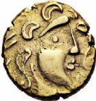 Photo numismatique  ARCHIVES VENTE 2016-19 oct IBERIE- GAULE - CELTES PARISII (région parisienne)  331- Statère d'or de la classe II, type B, (IIème s. avant J.C.).