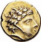 Photo numismatique  ARCHIVES VENTE 2016-19 oct GAULE - CELTES CARNUTES (région de Chartres)  332- Statère d'or à la joue ornée, (IIème s.-début du Ier s. avant J.C.).