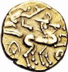 Photo numismatique  ARCHIVES VENTE 2016-19 oct IBERIE- GAULE - CELTES CARNUTES (région de Chartres)  332- Statère d'or à la joue ornée, (IIème s.-début du Ier s. avant J.C.).