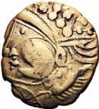 Photo numismatique  ARCHIVES VENTE 2016-19 oct IBERIE- GAULE - CELTES AULERQUES EBUROVICES (région d'Evreux)  333- Hémistatère au sanglier,  (A partir du IIème s.).