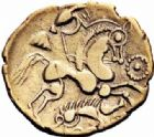Photo numismatique  ARCHIVES VENTE 2016-19 oct GAULE - CELTES AULERQUES EBUROVICES (région d'Evreux)  333- Hémistatère au sanglier,  (A partir du IIème s.).