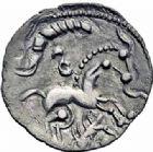 Photo numismatique  ARCHIVES VENTE 2016-19 oct GAULE - CELTES AULERQUES EBUROVICES (région d'Evreux)  334- Monnaie lamellaire d'argent, (vers 60-30/25).