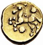 Photo numismatique  ARCHIVES VENTE 2016-19 oct IBERIE- GAULE - CELTES OUEST DU BELGIUM - BELLOVAQUES  335- Statère d'or, (vers 60-30/25).